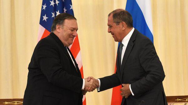 Министр иностранных дел РФ Сергей Лавров и госсекретарь США Майк Помпео