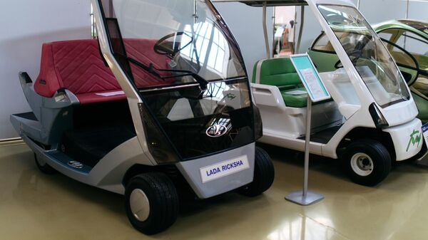 Концепт электрокара Lada Рикша в музее прототипов АвтоВАЗ в Тольятти