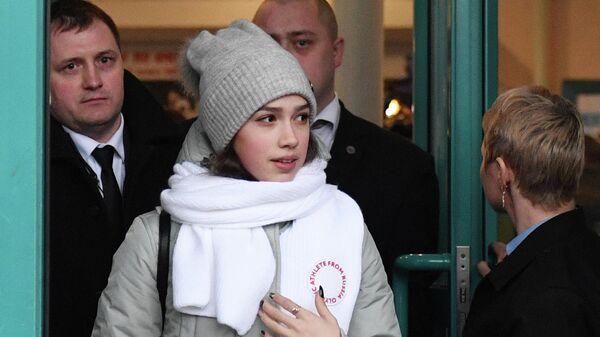 Проводы фигуристок Е. Медведевой и А. Загитовой на Олимпиаду в Пхенчхан