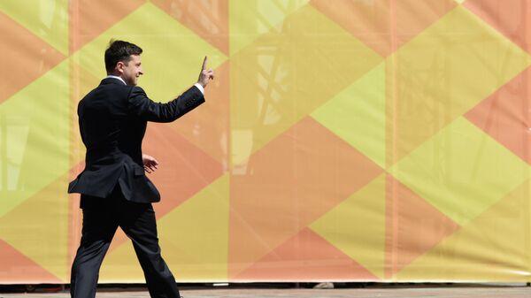 Президент Украины Владимир Зеленский после церемонии инаугурации в Верховной Раде в Киеве.