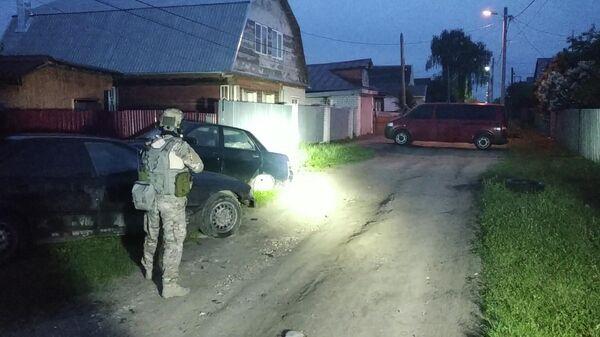 На месте нейтрализации бойцами спецназа террористов в городе Кольчугино Владимирской области