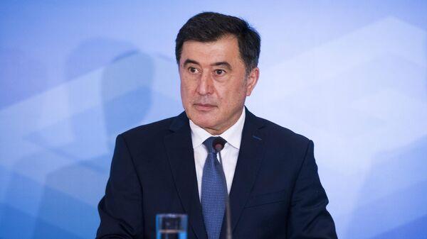 Генеральный секретарь Шанхайской организации сотрудничества Владимир Норов выступает на совещании министров иностранных дел ШОС в Бишкеке. 22 мая 2019