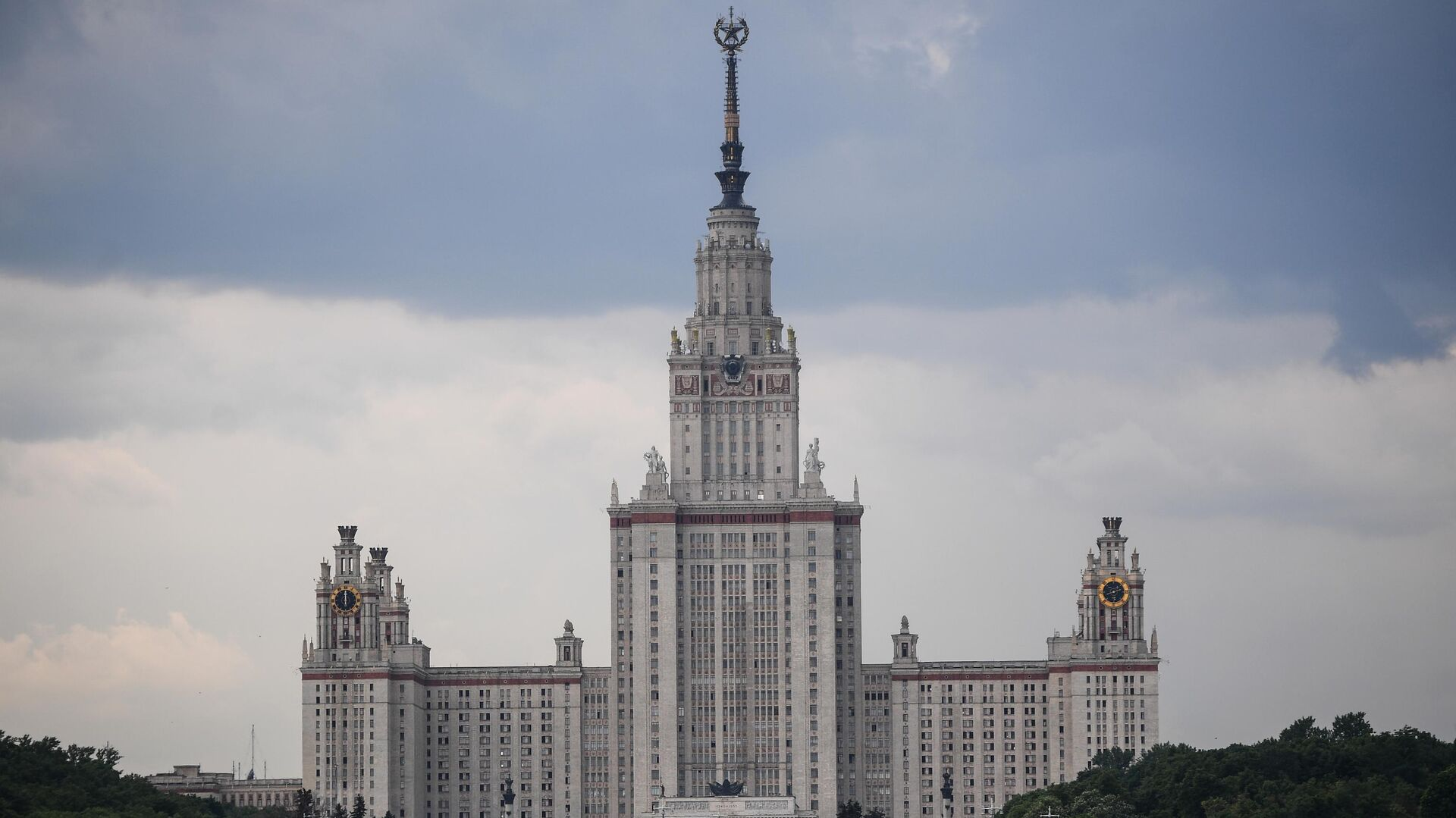 Высотное здание МГУ имени Ломоносова - РИА Новости, 1920, 17.06.2021