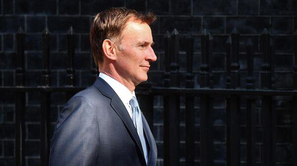Министр иностранных дел Великобритании Джереми Хант на Даунинг-стрит, 10 в Лондоне
