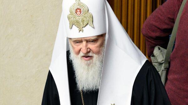 Почётный патриарх Православной церкви Украины Филарет на заседании Верховной рады