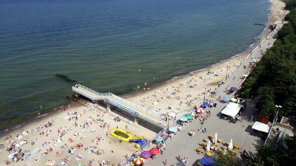 Пляж на побережье Балтийского моря