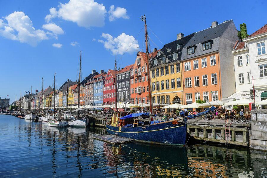 Канал Nyhavn (Новая гавань) в Копенгагене