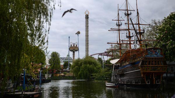 Городской парк Tivoli в городе Копенгагене