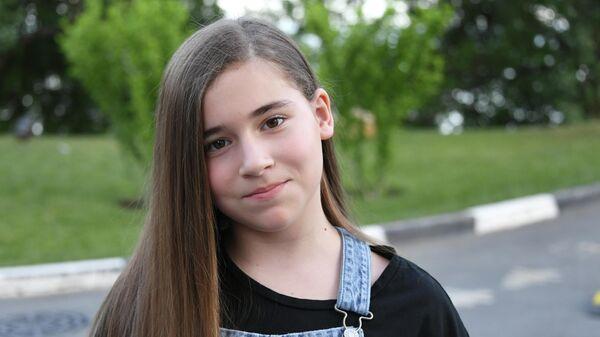 Микелла Абрамова во время проведения конкурса молодых исполнителей Детская Новая волна-2019 в международном детском центре Артек в Крыму
