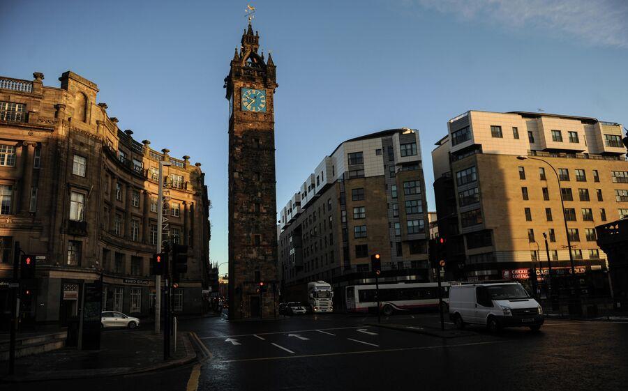 Часовая башня Толбут в Глазго