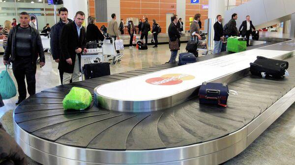 Зона выдачи багажа в зале прилета терминала D международного аэропорта Шереметьево