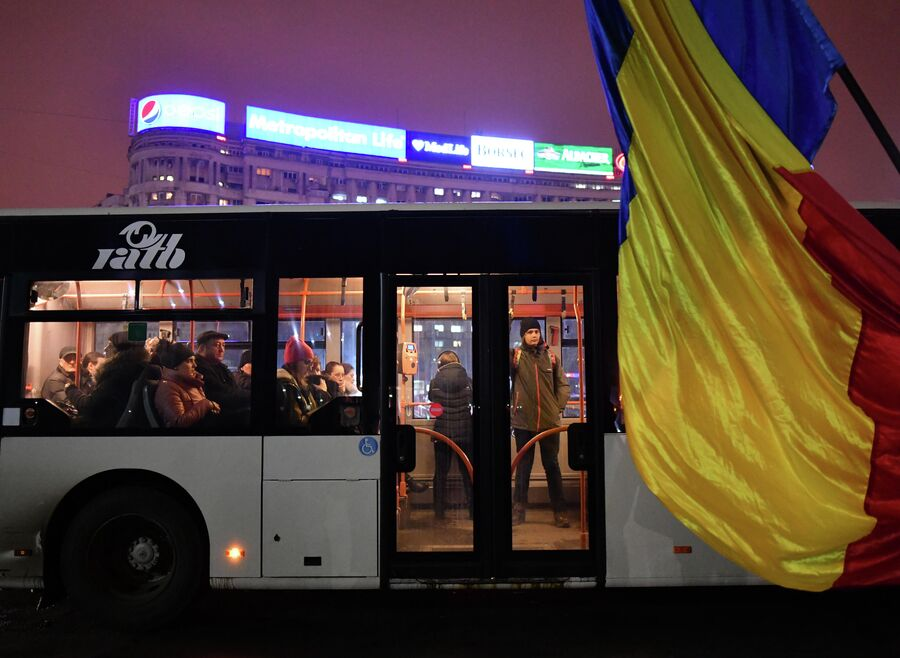 Автобус в Бухаресте