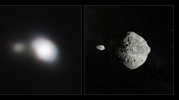 Фотография двойного астероида 1999 KW4, полученная телескопом VLT