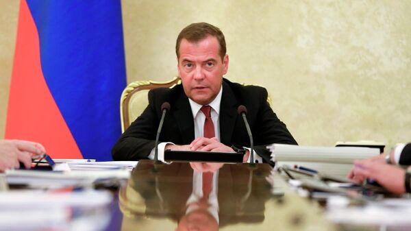 Дмитрий Медведев проводит заседание президиума Совета при президенте РФ по стратегическому развитию и национальным проектам. 4 июня 2019