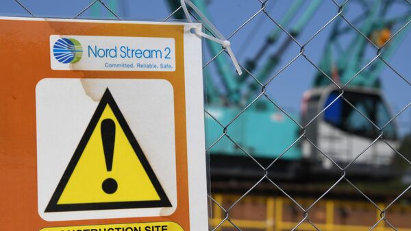 Участок строительства газопровода Северный поток-2 в Ленинградской области. 5 июня 2019