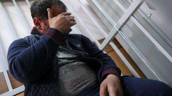Избрание меры пресечения в Красногорском городском суде Московской области Сергею Ходжаяну подозреваемого в убийстве ветерана боевых действий Никиты Белянкина