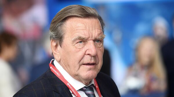 Председатель комитета акционеров Nord Stream 2 Герхард Шредер на Петербургском международном экономическом форуме 2019