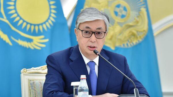 Касым-Жомарт Токаев во время пресс-конференции после оглашения предварительных итогов выборов президента Казахстана