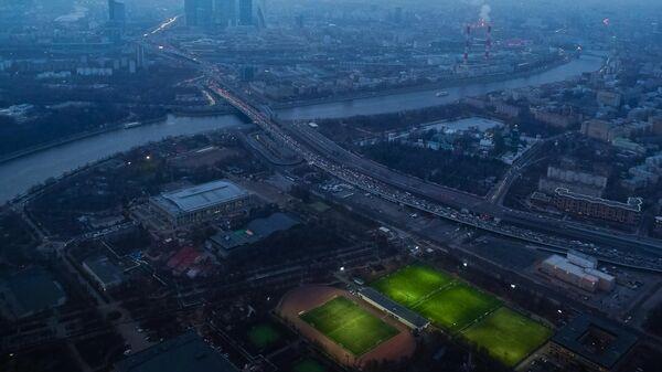 Вид на Москву с высоты птичьего полета