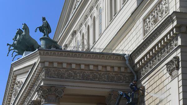 Фасад Государственного академического Большого театра России в Москве