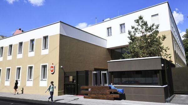 Новое здание посольства Швейцарии в переулке Огородная слобода в Москве