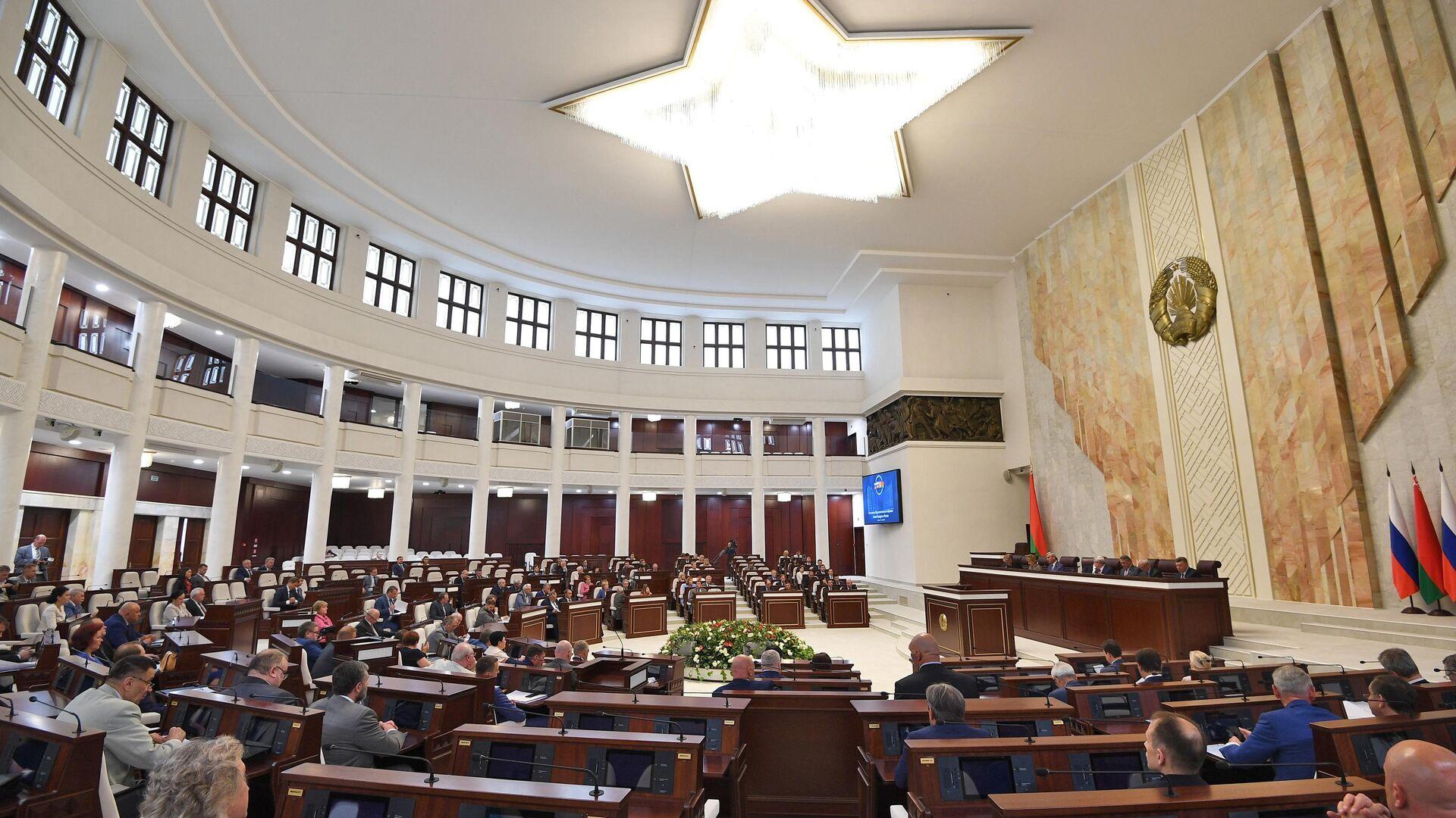 56-я сессия парламентского собрания Союзного государства России и Белоруссии в Минске - РИА Новости, 1920, 30.09.2020