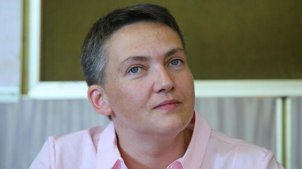 Надежда Савченко в Броварском районном суде во время заседания