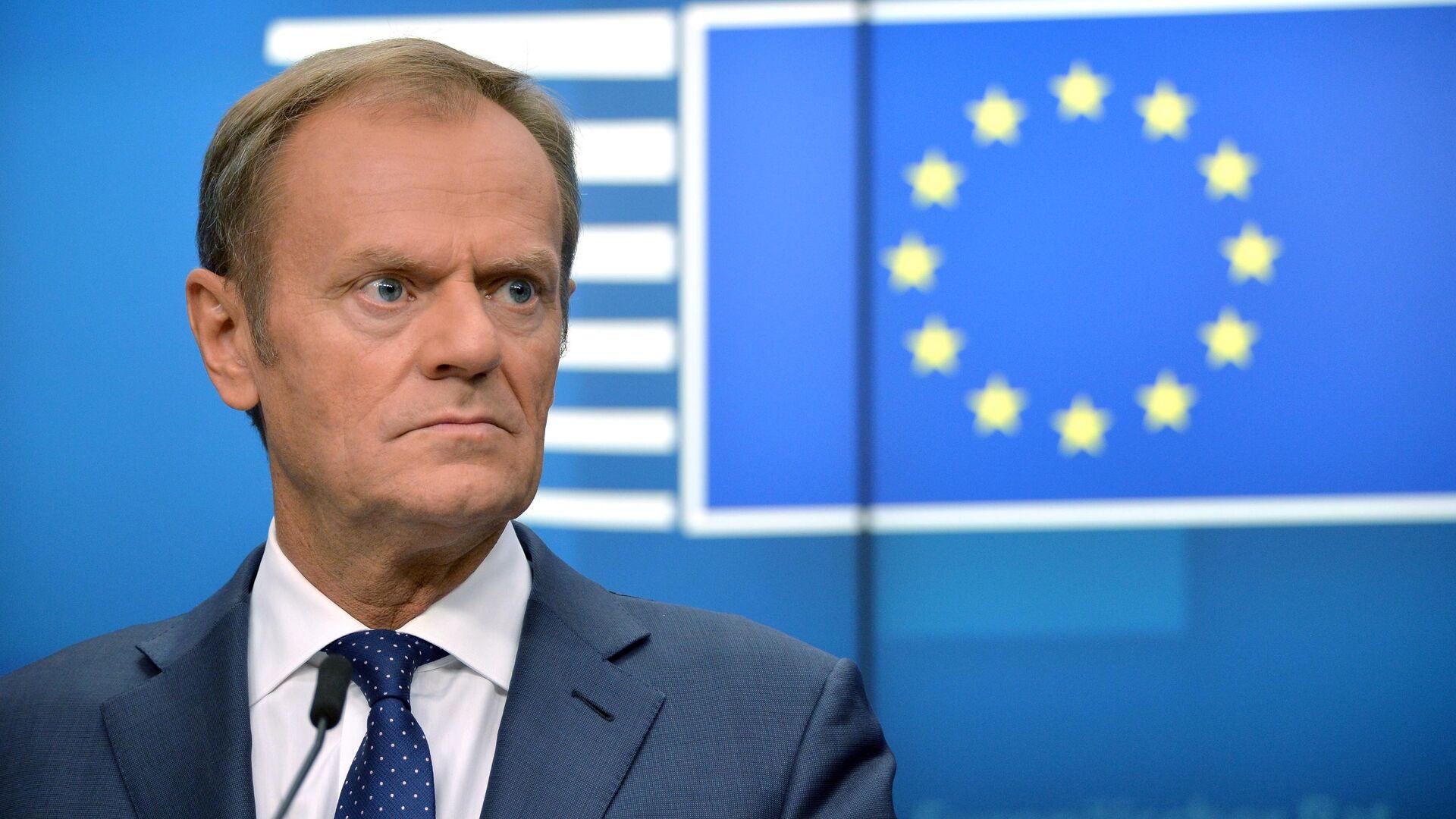 Председатель Европейского совета Дональд Туск на саммите ЕС в Брюсселе. 21 июня 2019 - РИА Новости, 1920, 10.09.2021