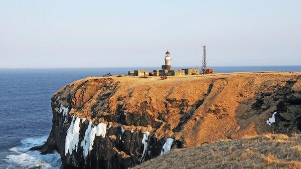 Маяк Шпанберга на мысе Краб острова Шикотан Сахалинской области