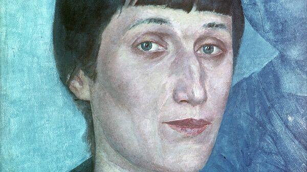 Портрет Анны Ахматовой, 1922 год. Художник Кузьма Сергеевич Петров-Водкин