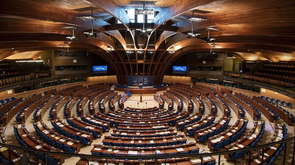 Зал заседаний Парламентской ассамблеи Совета Европы