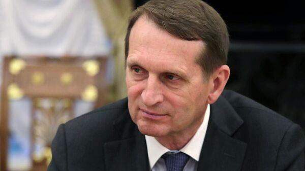 Директор Службы внешней разведки   Сергей Нарышкин