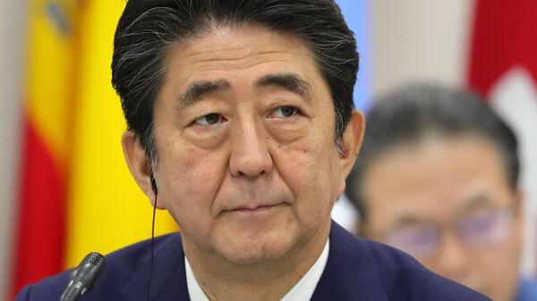 Премьер-министр Японии Синдзо Абэ на саммите глав делегаций государств – участников Группы двадцати. 28 июня 2019