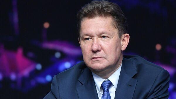 Председатель Правления ПАО Газпром Алексей Миллер во время общего собрания акционеров ПАО Газпром в Санкт-Петербурге. 28 июня 2019