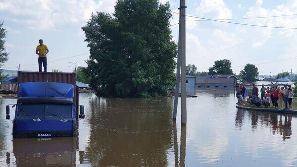 Зона подтопления на территории Иркутской области. 29 июня 2019