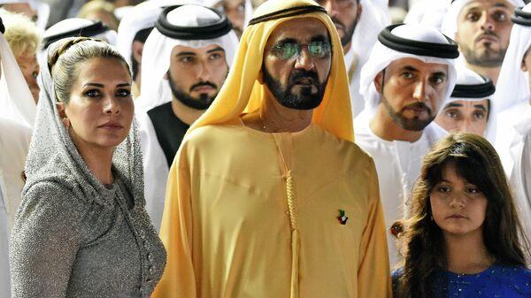Принцесса Хайя бинт аль-Хусейн и премьер-министр ОАЭ, правитель Дубая шейх Мохаммед бен Рашид Аль Мактум