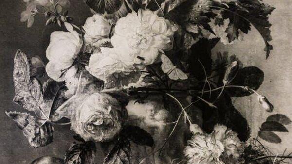 Репродукция картины Ваза с цветами нидерландского художника Яна ван Хёйсума