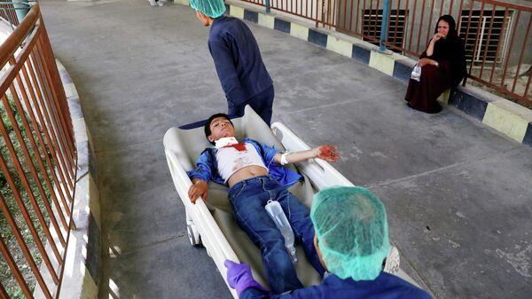 Раненого в больнице после взрыва в Кабуле, Афганистан. 1 июля 2019