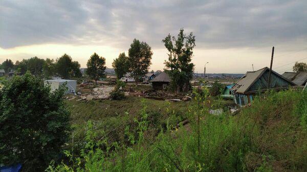 Последствия наводнения в Тулунском районе Иркутской области