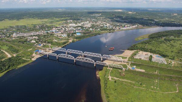 Железнодорожные мосты через реку Бурея в Бурейском районе Амурской области
