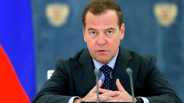 Председатель правительства РФ Дмитрий Медведев проводит совещание с членами кабинета министров РФ. 4 июля 2019