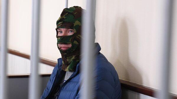 Задержанный Федеральной службой безопасности Александр Воробьев в Лефортовском суде Москвы