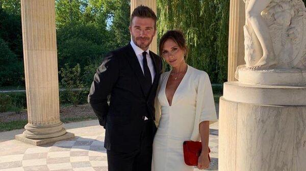 Дэвид и Виктория Бекхэм в Версале