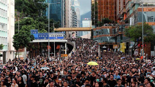Протест против внесения поправок к законопроекту об экстрадиции, Гонконг. 7 июля 2019
