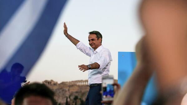 Лидер консервативной партии Новая демократия Кириакос Мицотакис