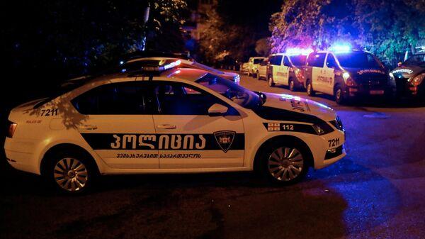 Полицейские автомобили в Тбилиси
