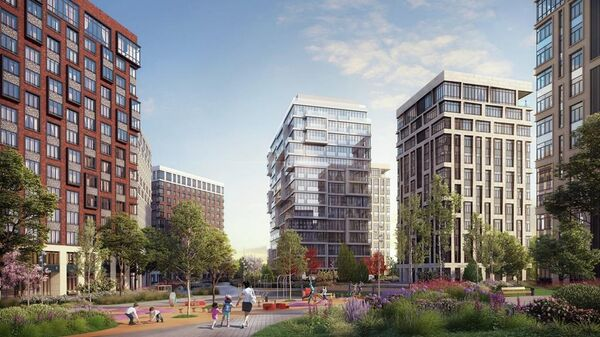 Жилой комплекс бизнес-класса West Garden на западе Москвы