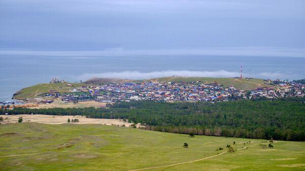 Поселок Хужир на острове Ольхон озера Байкал в Иркутской области