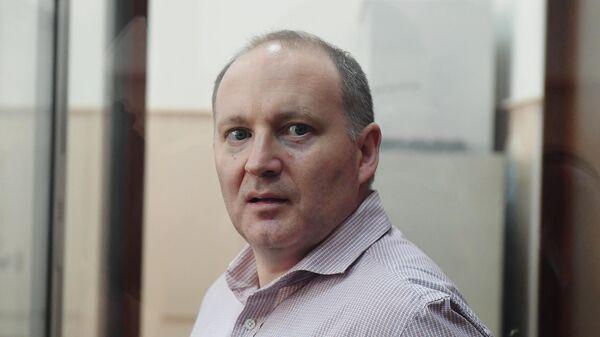 Партнер инвестиционного фонда Baring Vostok по индустрии финансового сектора, гражданин Франции Филипп Дельпаль, обвиняемый в мошенничестве, на заседании Басманного суда города Москвы. 9 июля 2019
