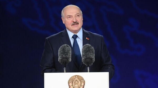 Президент Белоруссии Александр Лукашенко на открытии XXVIII Международного фестиваля искусств Славянский базар в Витебске. 12 июля 2019